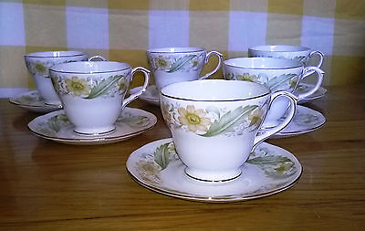 Duchess Greensleeves Tea Cup & Saucer X 6