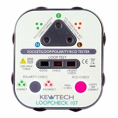 Kewtech LOOP107 rete Earth loop Check socket tester (b5S)