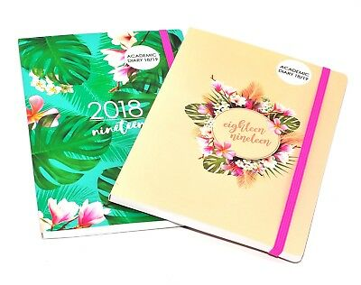 2018 - 2019 A5 Academic Mid - Year Week to View Student Teacher Diary Planner