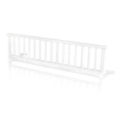 Baninni Bed Rail Guard Cot Bed Safety Child Toddler Rocco White Wood BNBTA015-WH
