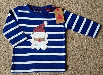 BNWT Next Baby Boys Xmas Christmas Santa Top 6-9-12 Months
