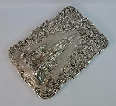 Nathaniel Mills Castle Top Solid Silver Victorian Card Case - The Scott Memorial