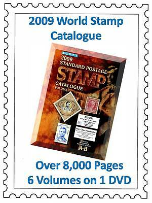 World Stamp Catalogue Collection DVD 6 Vol 8,500 Pg - Philately Craft Decoupage