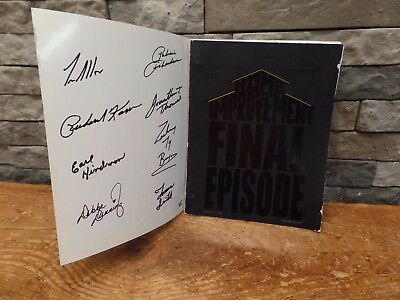 "Home Improvement Script SIGNED ""Final Episode"" 1999 8 Cast Members Tim Allen"