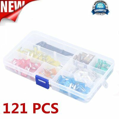 121pcs Automotive Car Boat Truck Fuse Box Assortment 5A-30A New #L