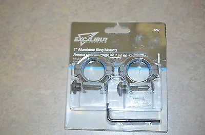 Excalibur 1inch scope rings fit weaver 7/8in bases # 2007