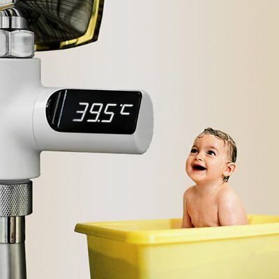 New Baby Bathing LED Display Small Size Water Temperature Gauge Meter Tester #L