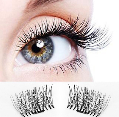 2 Pairs Magnetic Eyelashes 3D Reusable False Natural Eye Fake No Glue Extension