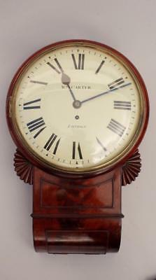 Fine Regency London Fusee Wall Clock.