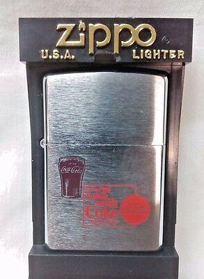 Coca Cola Zippo, Cigarette Lighter, Mint In Box - never struck