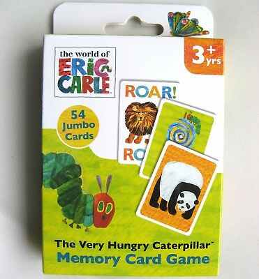 The Very Hungry Caterpillar Memory Card Game - Suitable For Age 3+ Years - New