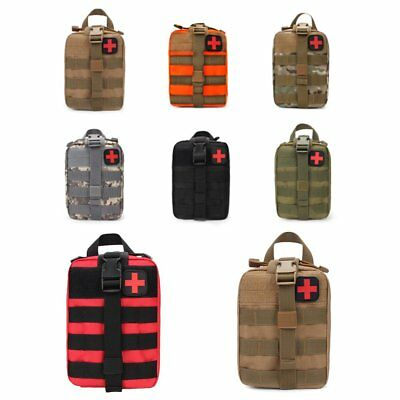 Outdoor Travel First Aid Kit Tactical Waist Pack Camping Bag Emergency Case #L