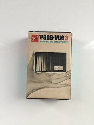 Vintage Gaf Pana-Vue 3 Folding 2 X 2 Slide Viewer With Box