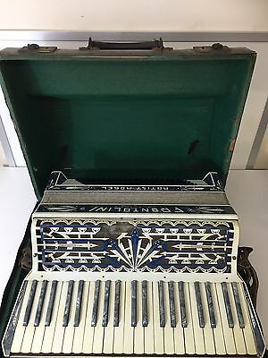 1930's Frontalini Artist Model Piano Accordion - Lovely Detail & Case -Needs TLC
