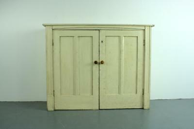 Vintage French Painted Pine Cabinet Cupboard Dresser #2021