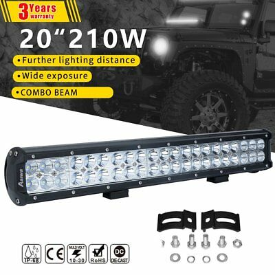 20inch CREE LED Light Bar Flood Spot Combo Work Driving Lamp Offroad 4WD Jeep