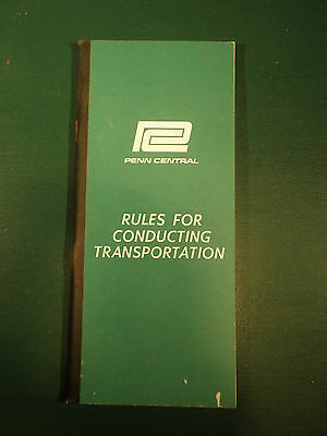 1968 Penn Central Railroad Rules for Conducting Transportation