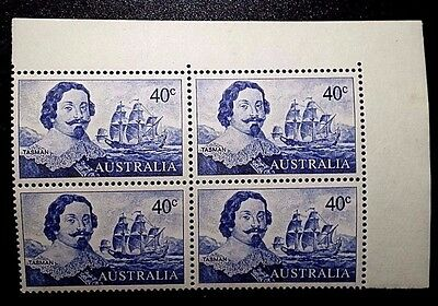 Australia 1966 Sc#412 Block of 4 Decimal Definitive / Abel Tasman MNH OG VF (boo