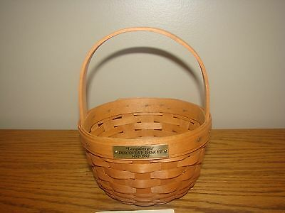 Longaberger 1992 DISCOVERY Basket Classic Stain Signed Mary 7 Judy 8 Jeff 12