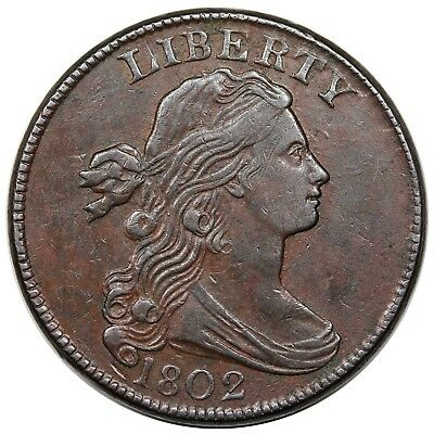 1802 Draped Bust Large Cent, S-235, R.3, XF