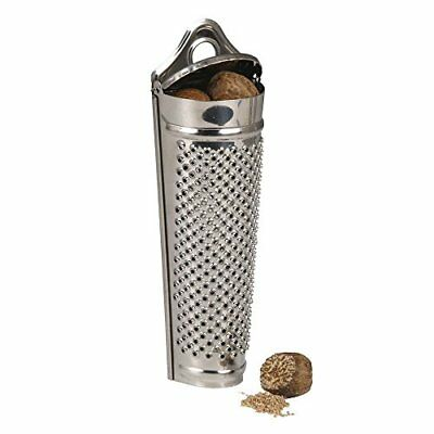 KitchenCraft Stainless Steel Spice  Nutmeg Grater and Storer