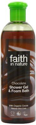 Faith In Nature Chocolate Shower Gel  Foam Bath The Ultimate Luxury 400ml