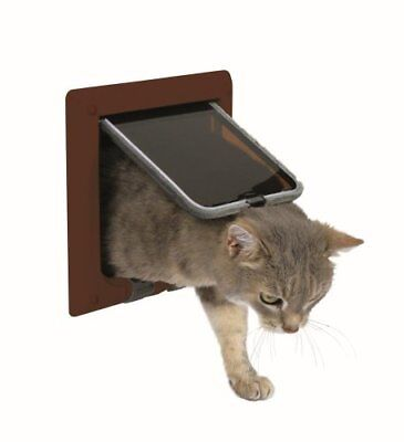 Trixie 38623 4-Way Cat Flap Brown