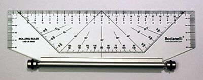 25cm 250mm Professional Metric Parallel Rolling Ruler - Technical Drawing Drafti