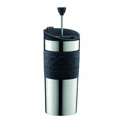 Bodum TRAVEL PRESS SET  Small Stainless Steel Coffee Maker with Extra Lid, Vacuu