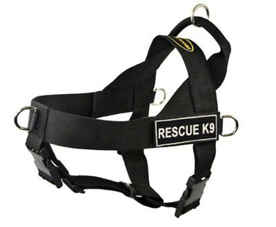 Dean  Tyler DT Universal Rescue K9 No Pull Dog Harness, Large, Black