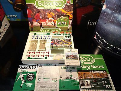 SUBBUTEO CLUB EDITION MADE IN ENGLAND originale 1981