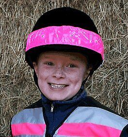 Equisafety Flashing Led Hat Band - High Viz Pink, One Size