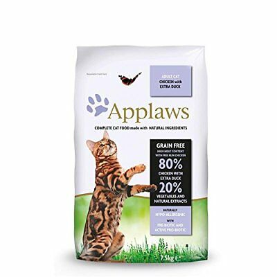 Applaws Dry Cat Food Adult Chicken and Duck, 7.5kg