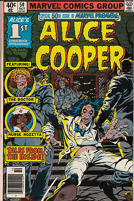 Special 50th Issue of Marvel Premiere #50 - ALICE COOPER (Oct 1979, Marvel)