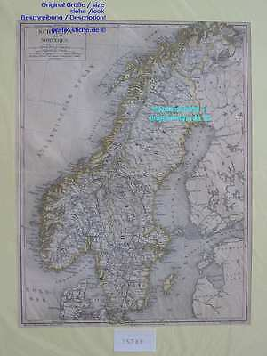 15788-Schweden-Sweden-Norwegen-Norway-KARTE-MAP-LML