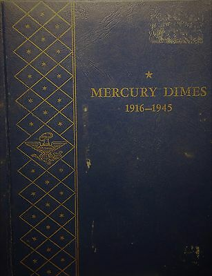 1916 to 1945 mercury dime set missing 1916D and 1942 overdate