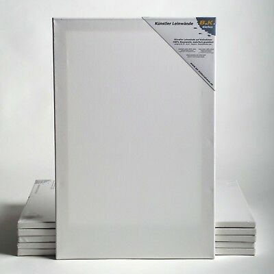 "6 B.K. BASIC STRETCHED CANVASES | ~16x20"", 40x50 cm 