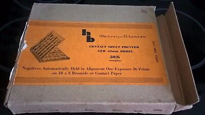Harvey Brenson, Contact Sheet Printer, with instructions & original box.