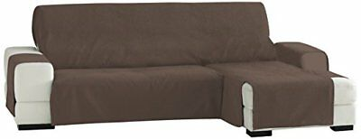 Eysa 240 cm Right Front View Zoco Non-Elastic Chaise Longue, Brown