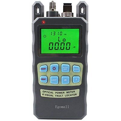 Egomall Fiber Optic Cable Tester -70 to 10dbm and 1mw 3.1mi Portable Optical Po
