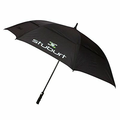 2016 Stuburt 66 Nylon Auto Opening Double Canopy Mens Golf Umbrella Black Small