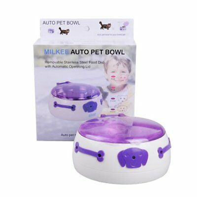 Milkee Pet Bowl Infrared Sensor Operated Automatic Dog Cat Feeder with Removable
