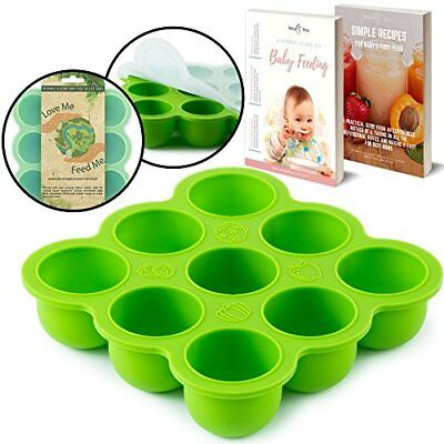 BabyBliss Eco Friendly Silicone Baby Food Freezer Storage Tray  9 Large Cups 2