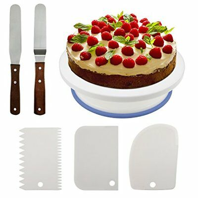 Philonext 10.8 Cake Decorating Turntable, Rotating Cake Stand Decorating Turnt