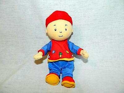 "Caillou 8"" plush beanbag stuffed Doll vtg 2001 Red Blue Outfit PBS TV Kids show"