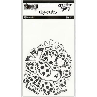 Dylusions Creative Dy-Cuts - Birds and Flowers - 24 Die Cut Pieces