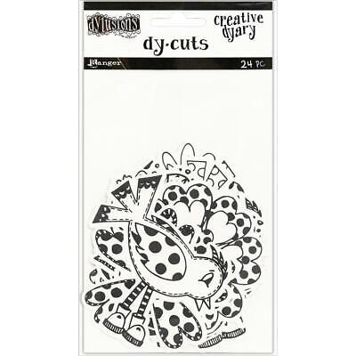 Dylusions Creative Dyary Die Cuts - Birds and Flowers - NEW!