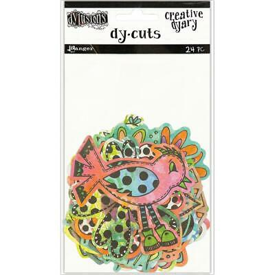 Dylusions Creative Dy-Cuts - Birds and Flowers in Colour - 24 Die Cut Pieces