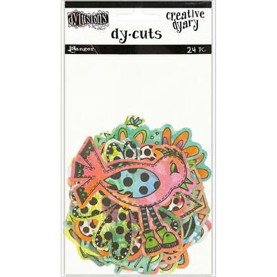 Dylusions Creative Dyary Die Cuts - Birds and Flowers in Colour - NEW!