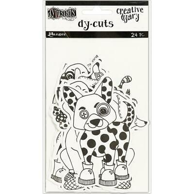 Dylusions Creative Dy-Cuts - Animals - 24 Die Cut Pieces